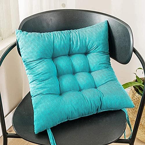 WHZG - Cuscino per sedia a sdraio, antiscivolo, con laccetti, morbido cuscino per sedia Tatami, adatto per casa, ufficio, dormitorio e giardino (colore: A, dimensioni: 40 x 40 cm)