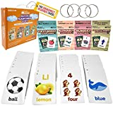 Flash Cards Toddlers Kids – 4Packs Alphabet ABC Letter Numbers Math Shapes Preschool Sight Words Flashcards Games – Baby Learning Educational Kindergarten Homeschool Supplies Material All Ages & Years