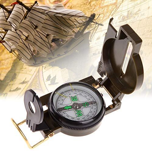 huihui Wandern Meter tragbare Falten Armee-Grün Objektiv Kompass Multifunktionsmini-Camping Klettern im Freienwerkzeug