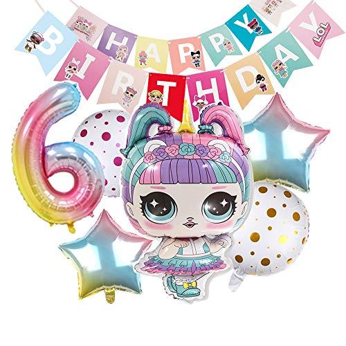 Partys Balloons for Chrildren Surprise Birthday Balloon Bouquet Decorations Surprise Doll Banner Chirldren