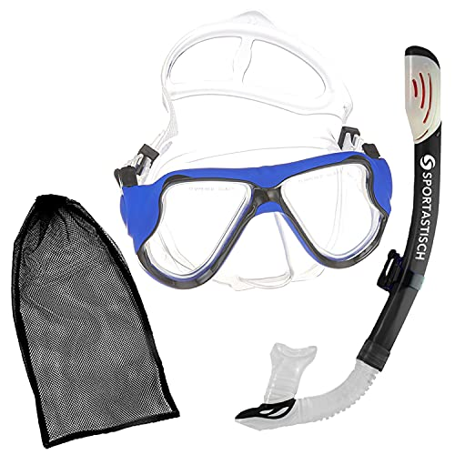 """Sportastisch Schnorchelset """"Snorkel Star"""" mit Dry Schnorchel und Taucherbrille, Professionelles Anti-Leck Anti-Fog Tauchmaske Kit zum Tauchen Schnorcheln Erwachsene, bis zu 3 Jahren Garantie*"""