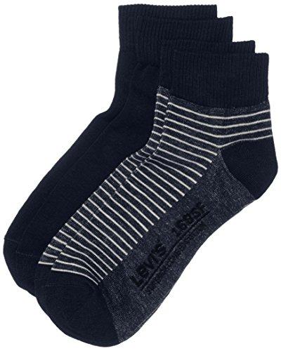 Levi's Herren LEVIS 168SF CUT STRIPE 2P Socken, Blau (Mid Denim), 39/42 (Herstellergröße: 039) (2er Pack)