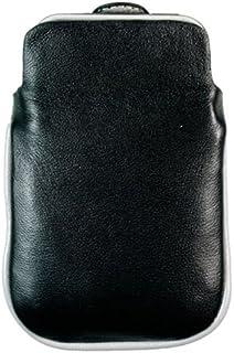 Kroo BARE Premium Leather Case Designed for Apple iPhone 3G/3GS - Black/Gray