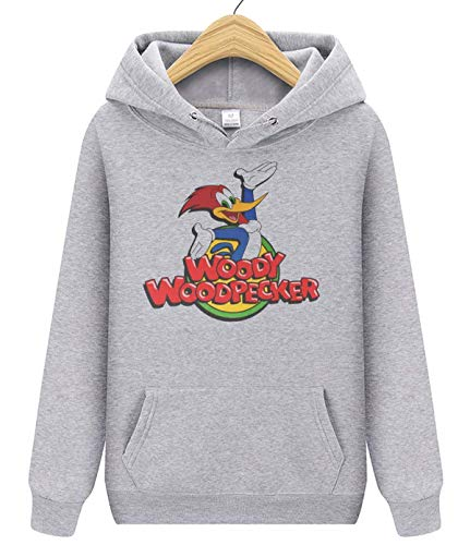 OKJGH The Woody Woodpecker Show Unisex Adult Pullover Hoodie Hoodless Sweater Sweaterwear for Mens and Women LightGray S