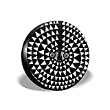 LYMT Coperture per Pneumatici African Moon Mask. Arte Antica Tribale. Illustrazione di Inchiostro per la Progettazione e la Pagina da colorare. Illustrazione vettoriale Copricerchi 14-17inch