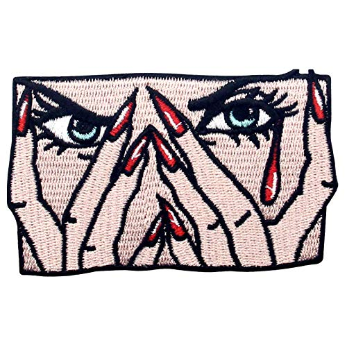 The Angry Crying Woman Patch Embroidered Applique Iron On Sew On Emblem