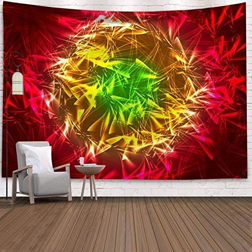 Tapiz de pared con diseño de cielo estrellado cósmico y psicodélico, para colgar en la pared, tapiz indio, mandala hippie