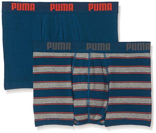 PUMA Herren Rugby Stripe YD 2P Unterwäsche, Blue/Orange, S