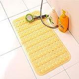 Duschraummatte Badematte im Europäischen Stil Geschmacklos Badezimmermatte Pvc Badewanne Massage Matte Rutschfeste Matte Gelb Rechteckig 36 * 70Cm, OundYQ