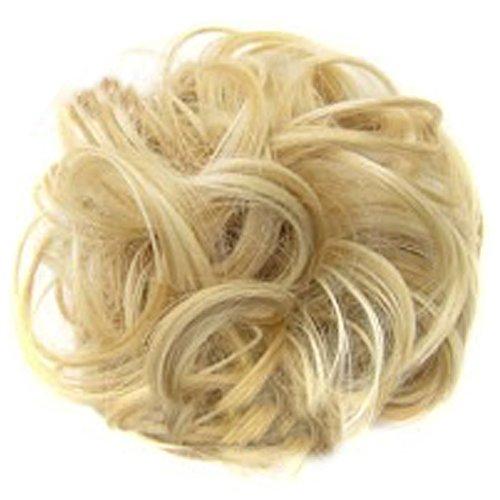 Bluelans Teenxful Mode Femme ondulés bouclés Chignon extension de cheveux synthétiques Bud Chignon Bicolore dégradé, 15, 15