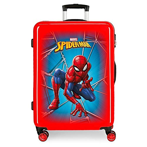Marvel Spiderman Black Maleta Mediana Rojo 48x68x26 cms Rígida ABS Cierre combinación...
