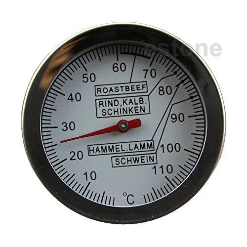 YUZI Thermometer aus Edelstahl mit großem Zifferblatt