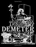 Demeter: Extra Large Sketchbook Multipurpose Blank Notebook for Drawing, Writing, Painting, Doodling, Sketching Paper 400 Pages, 8.5x11 Ancient Greek Mythology Cover Design