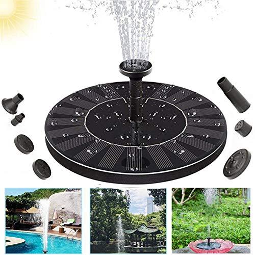 SO Solar fontein, waterpomp op zonne-energie, eenvoudige installatie voor tuinvijver, visreservoir, vogelbadkamerdecoratie, vijverpomp op zonne-energie