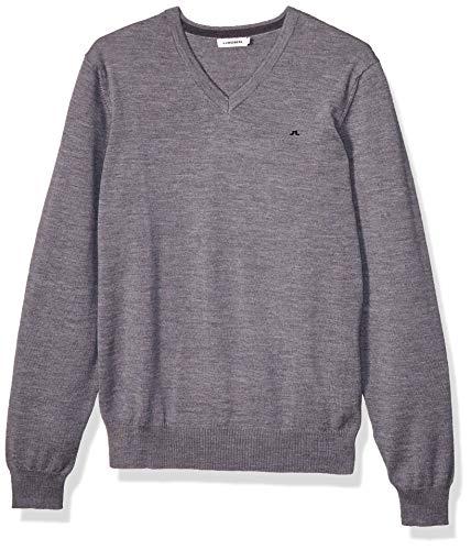 J. Lindeberg Lymann True Merino Knit Pull, Gris (Gris mélangé), XL Homme