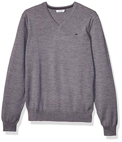 J. Lindeberg Lymann True Merino Knit Pull, Gris (Grey Melange 9363), XL Homme