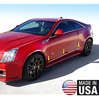 Amazon Com Made In Usa Compatible With 2014 2019 Cadillac Cts Coupe Stainless Steel Chrome Body Side Molding Trim Accent 1 2 Wide 6pc Automotive