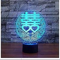 giyiohok 3DカラーナイトライトLedUSBマーライオン成形ライオンヘッドフィッシュテールテーブルランプ寝室の装飾ビジュアルお土産のライトボックスこどもの日ギフト-B31-B28