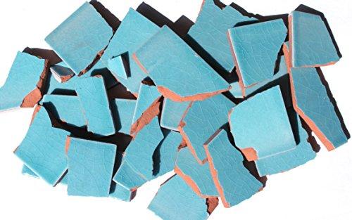 900g Bruchmosaik, Mosaikfliesen aus handgefertigten Fliesen - englischblau