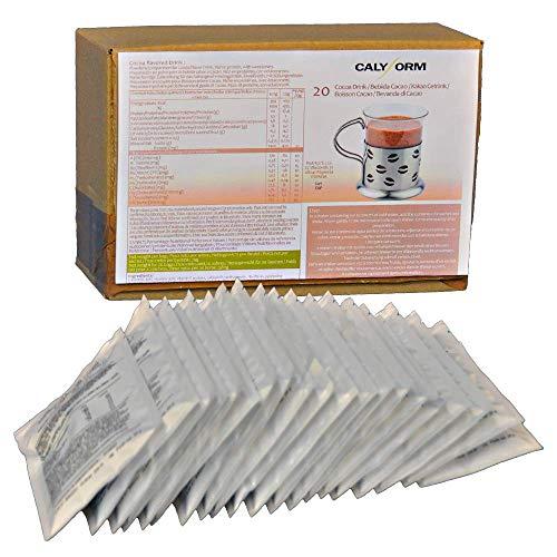 CALYFORM Batidos Proteínas para dieta sabor Cacao   Bebida proteica en polvo saciante   Proteína dietética de calidad y aporte en aminoácidos esenciales (20 sobres)