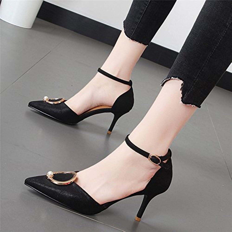 Xue Qiqi feinen Tipp mit dem high-heel Schuhe stilvolle für Frauen Schuhe flache Mund einzelne Schuhe weiblichen Hohle geschlitzte