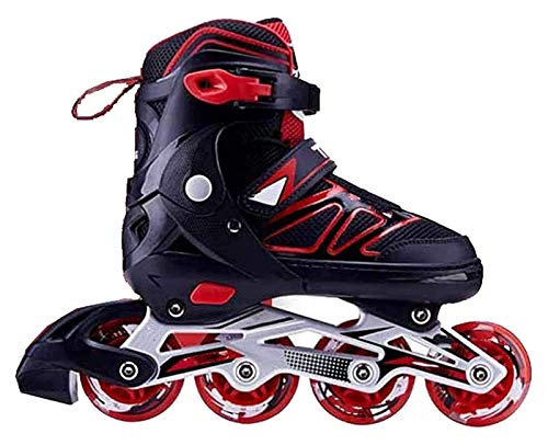 YDL Patines en línea Patines Roller Sports Professional Outdoors Recreación Fitness Roller Blades Adulto Juvenil Unisex (Color : Red, Size : 31)