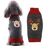 Abrrlo Pull-Overs pour Chiens, Pull d'hiver pour Chien, Pull motif de Noël - Manteau tricoté pour...