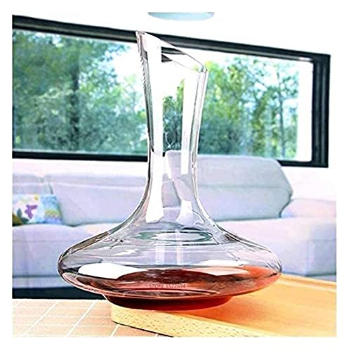 JIUYUE Decantador de Whisky Decantador de vinos 1.8L Decantador de Vino clásico HANADE Cristal Cristal Tinto Vino Pourer Vivid Champagne Decanter Vino Rojo Caefe 60 onzas Capacidad Elegante Licorera