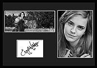 10種類! エマ・ワトソン/Emma Watson /サインプリント&証明書付きフレーム/BW/モノクロ/ディスプレイ/3W (07) [並行輸入品]