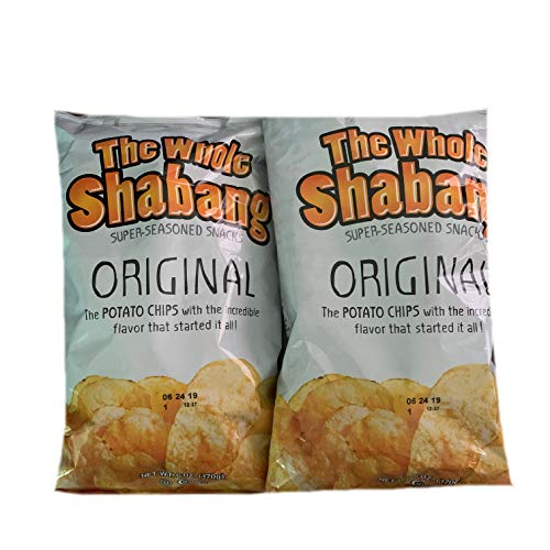 The Whole Shabang Original Potato Chips | 6 oz Bags | Pack of 2 | Seasoned Potato Chips