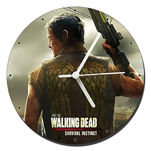 MasTazas The Walking Dead Survival Instinct Wanduhren Wall Clock 20cm