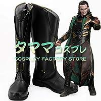 ロキ マイティ・ソー/ダーク・ワールド Thor: The Dark World Loki コスプレ 靴 ブーツ コスプレ靴 cosplay オーダーサイズ/スタイル 製作可能 【タママ】(22.5cm)