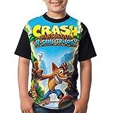 maichengxuan Camisetas de Manga Corta, Youth Tops Graphic Crash-B-Bandicoot T Shirts Short Sleeve tee Shirts Sports T-Shirt for Boys/Girls Small