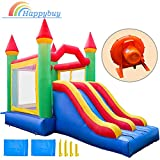 Happybuy Inflatable Castle Bounce Outdoor Bounce Castle with Slider BlowerInflatable Bounce House Indoor Inflatable Bounce for Kids (22x12.5x11.8ft)