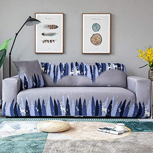 Ginsenget Funda sofá Fundas sofá Molde 1 2 3 4 Set Funda sofá Forma sofá,Sofá elástico Anti