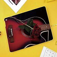iPad Pro 10.5 ケース/iPad Air 2019 ケース(Air3)高級ソフトPUレザー製 iPad 10.5 カバー オートスリープ&スタンド機能付き ひび割れ防止 防衝撃デザイン 手帳型10.5インチタブレットスマートケース カバーロマンスをテーマにしたスペインの音楽家ポルトガルハンドメイドギターLove Rose