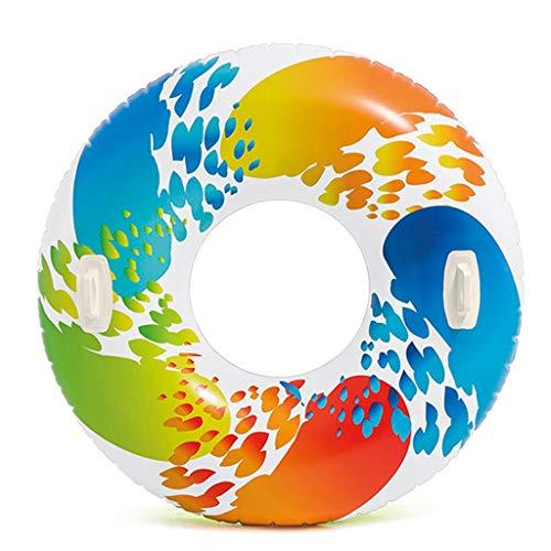 Schwimmreifen Witzige lustige Luftmatratze Schwimmreifen Schwimmring XL Monster Reifen mit Griffen 122 cm für Wasser Strand Party Wasser