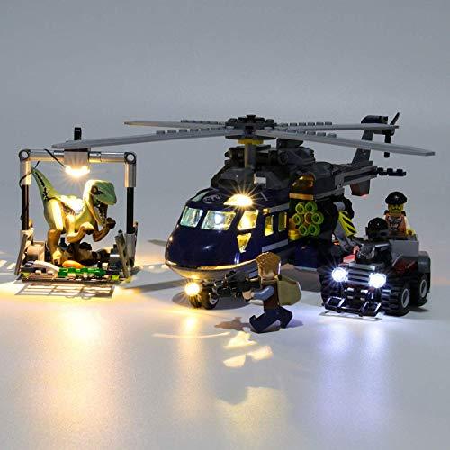 Light Kit para Jurassic World Blue's Helicopter Pursuit Bloques de construcción Modelo - Conjunto de luz LED Compatible con 75928 (Nota: No Incluido el Modelo)