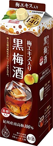 『サッポロ 黒梅酒 [ 1800ml ]』のトップ画像