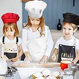 INSANYJ 2 Stück Schürze Kinder mit Tasche, Wasserdicht Kinderschürze für Jungen Mädchen, Verstellbare Kochschürze/Küchenschürze für Basteln Bemalen Backen Kochen (Schürzen schwarz, grau7-13 Jahre) - 6