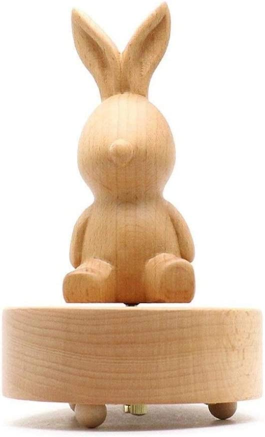 MYYINGBIN Wooden Music Box Rotating Animal Shaped specialty shop Clockwork Limited price Musi