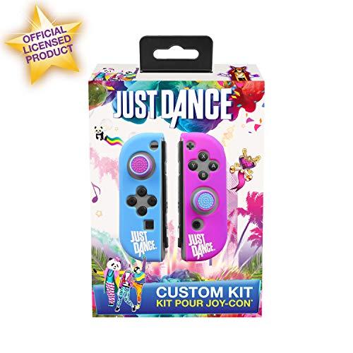 Subsonic - Just Dance 2019 Etuis housse de protection en silicone pour JoyCon , coque souple anti-dérapante avec accessoires Thumb Grips Caps pour joysticks des manettes Nintendo Switch Joy-Con