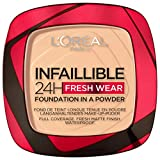L'Oréal Paris Polvos Compactos Mate Infalible 24H, Larga Duración, Cobertura Media-Alta, Resistente al Agua, Tono: 40 Cashmere, 50 g