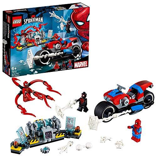 LEGO Super Heroes Rescate en Moto de Spider-Man, juguete de construccin de las aventuras del Hombre Araa, incluye un Can Arcnido (76113)