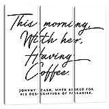 iCanvas HON142 Johnny Cash Description of Paradise Quote Canvas Print by Honeymoon Hotel, 60' x 60' x 1.5' Depth Split