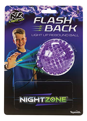 NightZone Light up Sports Flash Back Rebound Ball (Sold Individually - Colors Vary) by Toysmith