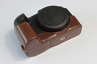 Canon キヤノン PEN EOS RP 一眼 カメラケース カメラカバー カメラバッグ カメラホルダー、【KOOWL】ハンドメイドのPUレザーカメラベース保護カバー、付属品:ハンドストラップ、スタイリッシュ、コンパクト、防水、防振 (コーヒー色)
