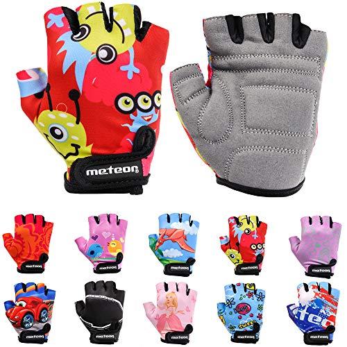 Meteor Unisex Kinder Fahrradhandschuhe Bike - Gel BMX Handschuhe, MONSTER, Gr.-Jr S/ Handweite- 6.5-7cm