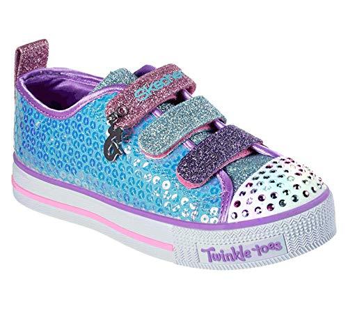 Skechers Unisex-Kinder Twinkle Lite Sneaker, Blau (Blue 20062l-Tqmt), 34 EU