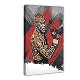 Mike Tyson Poster Boxing Sport Poster 1 Leinwand Wandkunst